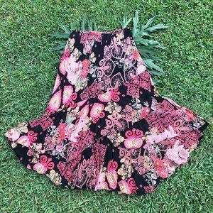Rouge Women Boho Floral Print Long / Maxi Skirt